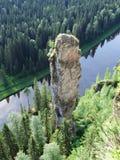 Usvinskie Poles. Rock Devil finger. Perm region. Russia. Royalty Free Stock Photography