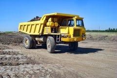 Usyp żółta Ciężarówka fotografia royalty free