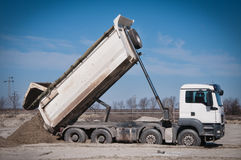 usyp ciężarówka Fotografia Royalty Free