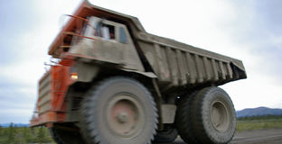 usyp duży ciężarówka Obrazy Stock
