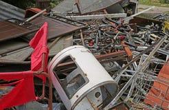 Usyp ferrous materiały w recycler dla kolekci Obraz Royalty Free