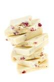 Biała czekolada z truskawką Fotografia Stock