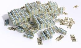 usypuje money1 Fotografia Royalty Free