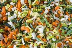Usypuje zupnych warzywa, składniki, dla tekstury lub tła obraz stock