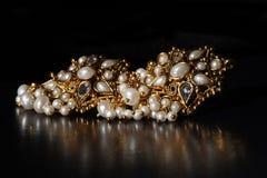uszaci złote pierścienie Obrazy Royalty Free