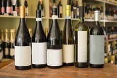 Uszczelnione Unlabeled butelki wino Fotografia Royalty Free