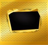 Uszkadzająca złocista tekstura Fotografia Stock