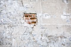 Uszkadzający betonowej ściany tło Zdjęcia Royalty Free