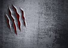 Uszkadzający grunge metalu ściany pojęcie Obrazy Stock