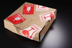 Uszkadzający pudełko fotografia stock