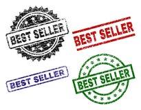 Uszkadzający Textured bestseller foki znaczki ilustracji