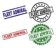 Uszkadzający Textured floty ADMIRAL foka znaczki royalty ilustracja