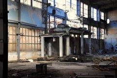 uszkadzający zaniechany budynek obrazy stock