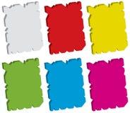 uszkadzająca ustalona etykietka Obraz Stock