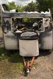 uszkodzenia ogień zdjęcia royalty free