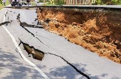 uszkodzona road Zdjęcie Stock