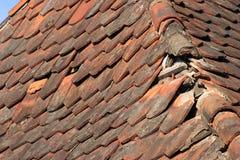 uszkodzone dach fotografia stock