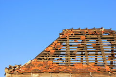 uszkodzone dach Obraz Royalty Free