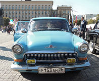 Utövande bil Volga GAZ-21 Arkivfoto