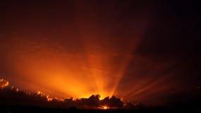 Utöver det vanliga solstråle Arkivfoto