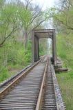 utöver järnvägen för järnväg för broavståndshorisont som sträcker spår Royaltyfria Foton