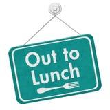 Ut att äta lunch allsång royaltyfri illustrationer