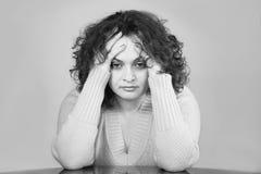 ut belastad kvinna Fotografering för Bildbyråer