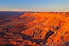 UT-Canyon Rims Recreation Area-Needles Overlook. This image was taken at sunset at the Needles Overlook in the Canyon Rims Recreation Area-Utah Stock Photography