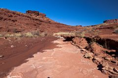 UT-Canyonlands国家公园空白外缘路 库存图片
