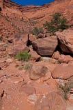 UT-Canyonlands国家公园空白外缘Rd。 库存图片