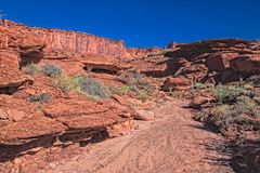 UT-Canyonlands Nati Pk-White Rim Road-Murphy Loop. Stock Photo