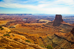UT-Canyonlands National Park-White Rim Road. This is a view from the White Rim Rd in the Canyonlands National Pk-UT Royalty Free Stock Images