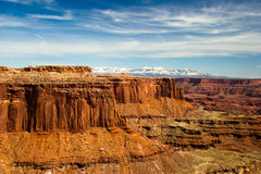 UT-Canyonlands National Park-White Rim Road. A view on the White Rim Rd in the Canyonlands National Pk in Utah Stock Photography