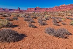 UT-Canyonlands National Park-White Rim Road. This image was taken on the Murphy Loop Trail off the White RimRoad in the Canyonlands National Park Royalty Free Stock Photography