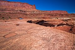 UT-Canyonlands National Park-White Rim Road. This image was taken near Monument Canyon along the White Rim Road in the Canyonlands National Park Stock Image
