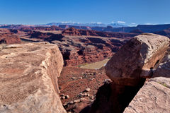 UT-Canyonlands National Pk-W@hite Rim Rd-Gooseneck Stock Photography