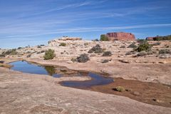 UT-Canyonlands National Pk-White Crack Stock Images