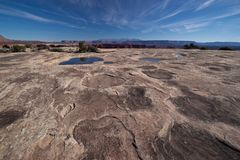 UT-Canyonlands National Pk-White Crack Royalty Free Stock Images