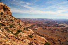 UT-Canyonlands nationale Park-Weiße Felgen-Straße stockfotos