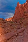 UT-Fisher Towers. This photo was captured right before sunset at Fisher Towers, north of Moab, Utah Stock Photos