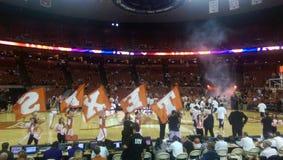 UT Longhorns college basketball game. UT vs TCU basketball game in Austin Texas Stock Photo