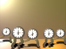 ut running tid Arkivfoto
