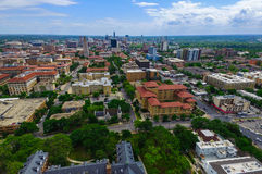 UT Tower Campus University with Austin Texas Skyline Cityscape in the background Stock Images