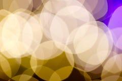 Ut ur bakgrund för gula lampor för fokus Royaltyfria Foton
