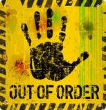 Ut ur beställningstecken