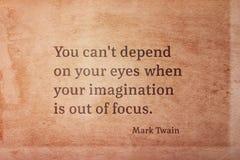 Ut ur fokusen Twain arkivfoton