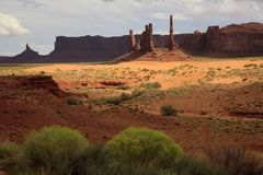 America. Utah/Arizona / USA - August 10, 2015: The Monument Valley Navajo Tribal Reservation landscape, Utah/Arizona, USA royalty free stock photo