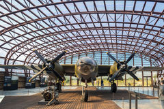 The Utah Beach D-Day Museum B26 marauder. Utah Beach, France - September 9, 2016: Utah Beach was the code name for one of the five sectors of the Allied invasion Royalty Free Stock Photo