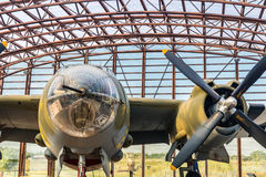The Utah Beach D-Day Museum B26 marauder. Utah Beach, France - September 9, 2016: Utah Beach was the code name for one of the five sectors of the Allied invasion Stock Images