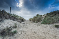 Utah Beach dunes in Normandy Wold War Two historic site Royalty Free Stock Image